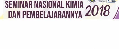 Seminar Nasional Kimia dan Pembelajarannya (SNKP) 2018