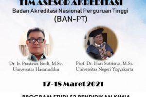 Asesmen Lapangan Daring Akreditasi Program Magister Pendidikan Kimia